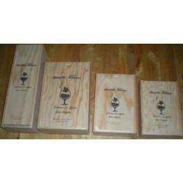 Coffret Bois en pin pour Basquaise Armagnac 50cl-70cl-150cl