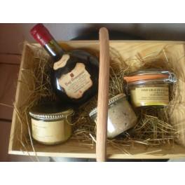 Baquet à Vendange Garni Armagnac / Coffret Cadeau